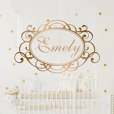 Name Wall Decal Personalized Name Decor Girls Nursery Decal Girls Bedroom Decor Name Decal Mirror Gold Name Letters A1 058 Wall Stickers Aliexpress