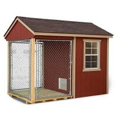 Ez Fit 4 X7 Wood And Chain Link Fence Dog Kennel Mk Sheds