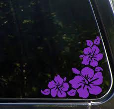 Car Hibiscus Corner Design1 Car Vinyl Decal Sticker Purple Right Car Decals Vinyl Hibiscus Vinyl Decal Stickers
