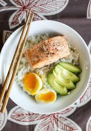 15 Minute Salmon & Avocado Rice Bowls ...