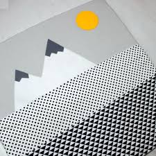 play mat baby grey black white