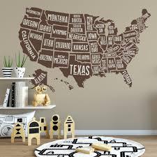 Wall Decal Usa Atlas America Map Decor United States Motomoms Decor