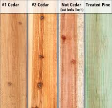 Inform Yourself Know The Difference Between Types Of Cedar A Better Fence Company Veteran Owned Local A Fence Companies Fence Replacement Driveway Gates Patio Covers