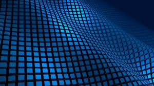 4k wallpaper of grid blue 3d pattern