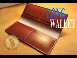 making a leather long wallet simple