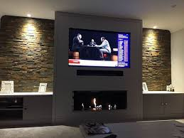 bioethanol fireplace tv wall stoves