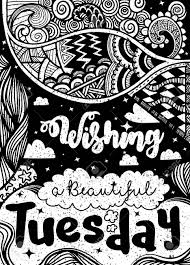 week days motivation quotes tuesday vector ethnic pattern can