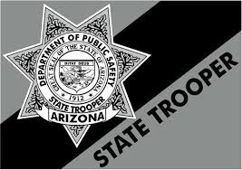 Arizona State Trooper Police Reflective Or Matte Vinyl Decal Etsy