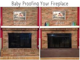 baby proofing the fireplace a brown house