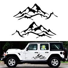 2pcs Car Sticker Car Body Decal Mountain Graphic Vinyl For Jeep Wrangler Rubicon Sahara Ku 54 Car Stickers Aliexpress