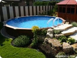 basic above ground pool landscaping