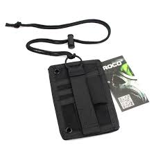 tactical id card holder hook loop
