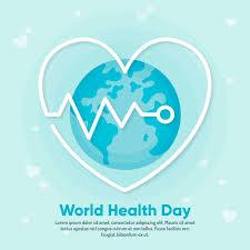 flat design wallpaper world health day