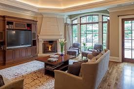 arrange furniture around a corner fireplace