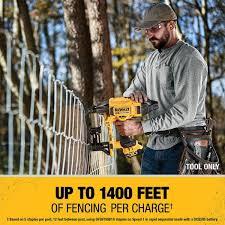 Dewalt 20 Volt Max 9 Gauge Cordless Fencing Stapler Tool Only Dcfs950b The Home Depot