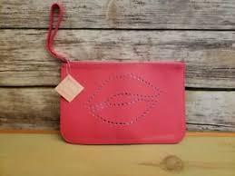 ulta beauty pink lips cosmetic zipper