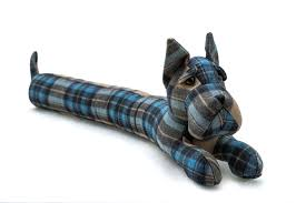 plaid scottie dog draught excluder