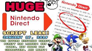 LEAKED Nintendo Direct January 17, 2019 ...