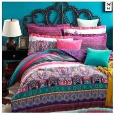 pink and blue paisley bedding for the