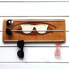 wooden sunglasses rack for wall