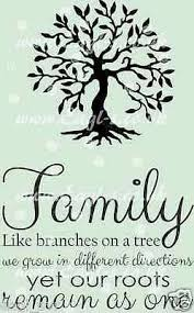 Vinyl Wall Art Decal Family Roots Sticker Huge 2 Parts Ebay