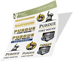 Amazon Com Purdue University Fort Wayne Mastodons Ncaa Sticker Vinyl Decal Laptop Water Bottle Car Scrapbook Type 2 Sheet Arts Crafts Sewing