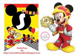Mama Decoradora Kit Imprimible Mickey Sobre Ruedas Gratis