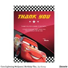 Cars Lightning Mcqueen Birthday Thank You Zazzle Com Ratones