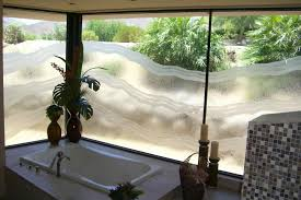 bathroom windows with etched glass