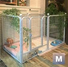 Sale 3 Size Metal Pet Fence Playpen With Easy Access Gate Pet Supplies For Dogs Dog Accessories On Carousell