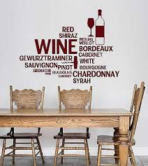 Amazon Com Vinyl Wall Decal Wine Bar Bottle Glass Restaurant Words Stickers Vs4711 Office Products