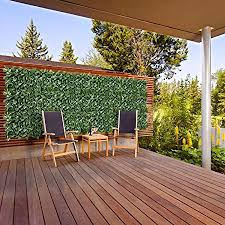 Amazon Com E K Sunrise 39 X 413 Faux Ivy Privacy Laurel Fence Screen With Flexible Mesh Artificial Leafoutdoor Decor Garden Backyard Decoration Panels Fence Cover Garden Outdoor