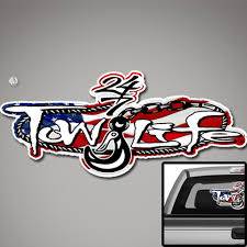 Tow Life Rear Window Decal Perforated 18 X 32 American Flag Tow Life Clothing Accessories