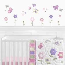 Pink And Purple Butterfly Peel And Stick Wall Decal Stickers Art Nursery Decor By Sweet Jojo Designs Set Of 4 Sheets Only 24 99