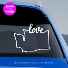 Washington State Love Decal Wa Love Car Vinyl Sticker Add Heart Over A City Ebay