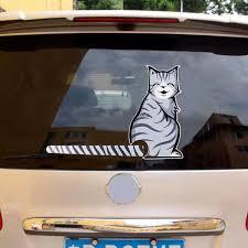 Funny Cute Car Stickers Cartoon Cat Tail Windshield Rear Window Wiper Decals Window Wiper Sticker Auto Product Car Accessories Car Stickers Aliexpress