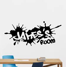 Custom Name Graffiti Street Culture Wall Sticker Boy Room Nursery Personalized Name Graffiti Wall Decal Bedroom Vinyl Home Decor Wall Stickers Aliexpress