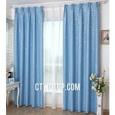 Funky Cheap Kids Room Blackout Baby Blue And Silver Star Curtains