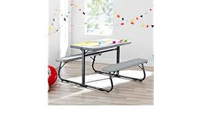 Desks Desk Sets Sets Kids Furniture Room Decor Toys Games Innovative And Sturdy Your Zone Folding Kids Activity Table With Two Benches Soft Silver Perfect For Homework Arts And Grafts Games Wonderful Addition To