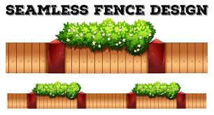 Seamless Fence Design With Flower Download Free Vectors Clipart Graphics Vector Art