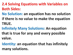 2 4 solving equations with variables on