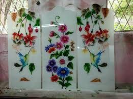 color glass designer glass mirror