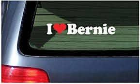 Amazon Com I Love Bernie Vinyl Decal White With A Red Heart Sticker Automotive