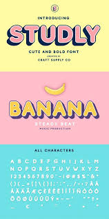 studly layered font family aesthetic fonts graphic design