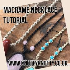 macrame spiral necklace diy