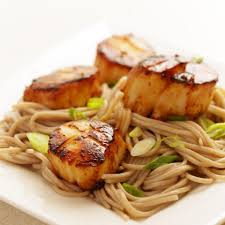 Miso-Glazed Scallops with Soba Noodles ...