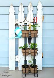Flower Pot Holder From Picket Fence Salvaged Living