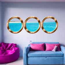 Vwaq Cruise Ship Porthole Wall Stickers Peel And Stick Window Decals