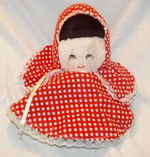 homemade topsy turvy doll grandma red