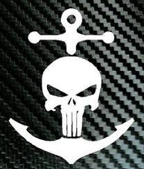 Large 12 Inch Anchor Punisher Skull Navy Car Truck Boat Decal Vinyl Sticker Ebay